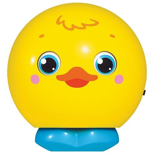 Купить Развивающая игрушка Азбукварик Музыкальный мячик-сюрприз Утенок желтый, Развивающие игрушки