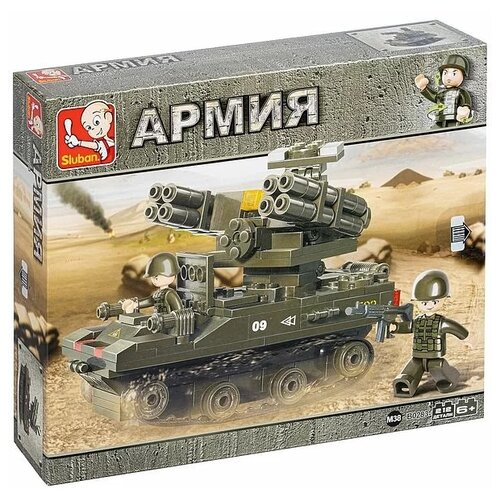 Конструктор SLUBAN Танковый корпус M38-B0283 Зенитно-ракетный комплекс М1