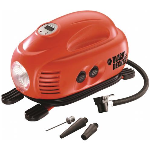 Автомобильный компрессор BLACK+DECKER ASI200 красный