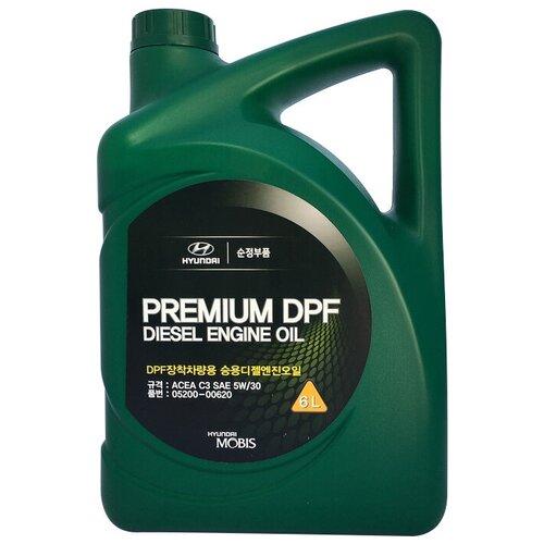 Синтетическое моторное масло MOBIS Premium DPF Diesel 5W-30, 6 л