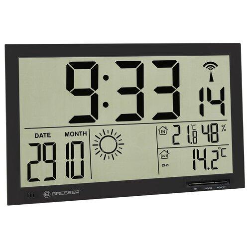 Метеостанция (настенные часы) Bresser MyTime Jumbo LCD черная