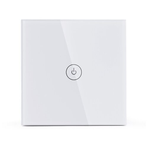 Умный выключатель плоский Meross Smart WiFi Wall Switch -Touch Button TOUCH-MSS510 wifi rf433 transmitter wall panel smart glass panel touch switch 1 2 3 gang remote control switch works with alexa google home