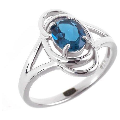 Фото - Balex Кольцо 1405936431 из серебра 925 пробы с топазом Лондон, размер 16.5 element47 кольцо из серебра 925 пробы с топазами лондон r32560h 7 ko lt wg размер 17 25
