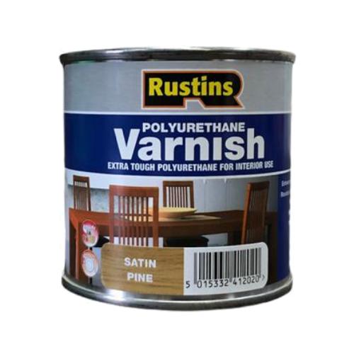 Лак Rustins Polyurethane Varnish Satin полуматовый полиуретановый сосна 0.25 л