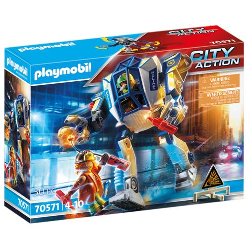 Купить Конструктор Playmobil City Action 70571 Полицейский робот, Конструкторы