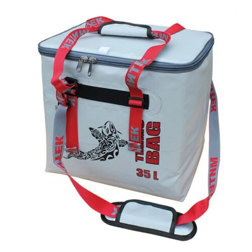 Фото - Сумка-Термос Митек бокс 035л (40х28х38см) с крышкой серый сумка рыболовная митек с крышкой овал 40х20х40 серый