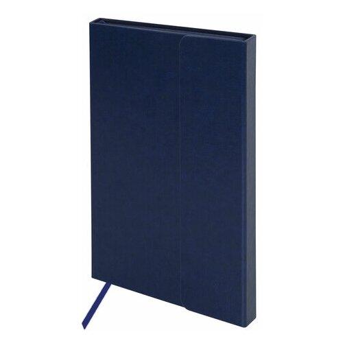 Купить Ежедневник недатированный А5 (148х218 мм), GALANT Magnetic , 160 л., кожзам, магнитный клапан, синий, 111879, Ежедневники, записные книжки