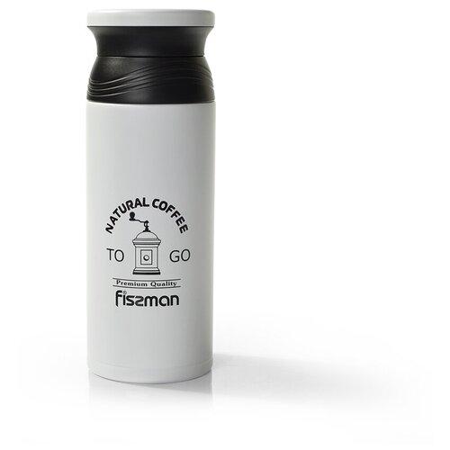 Классический термос Fissman Natural Coffee, 0.5 л белый