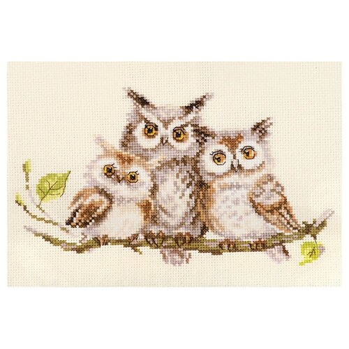 Фото - Алиса Набор для вышивания Совушки 22 x 13 см (0-210) алиса набор для вышивания тюльпаны малиновое сияние 22 x 26 см 2 43
