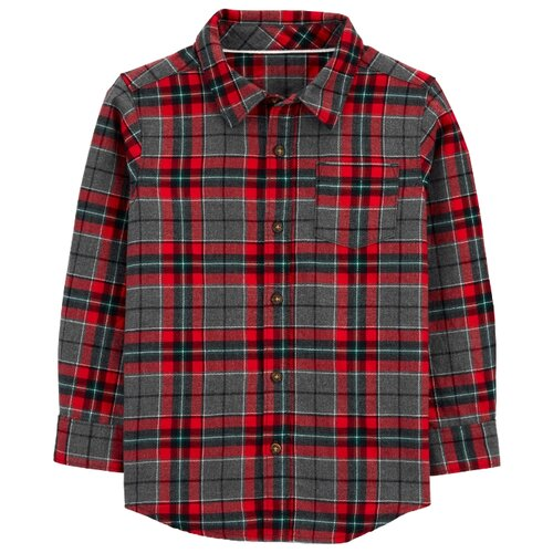 Рубашка Carter's размер 7, red/grey