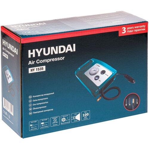 Фото - Автомобильный компрессор Hyundai HY 1535 синий аккумулятор автомобильный hyundai cmf 65ач 520a [75d23l]