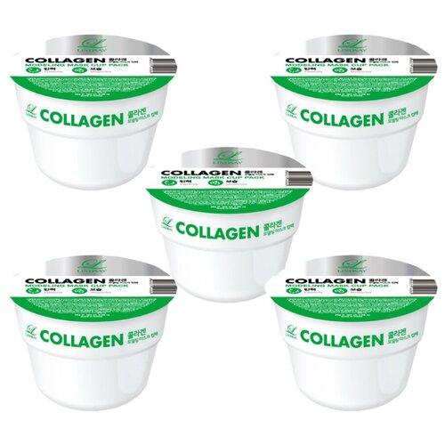 Фото - Lindsay Альгинатная маска с коллагеном Collagen Modeling Mask Cup Pack 28г. 5шт альгинатная маска для лица с маслом чайного дерева cool tea tree modeling mask cup pack 28г