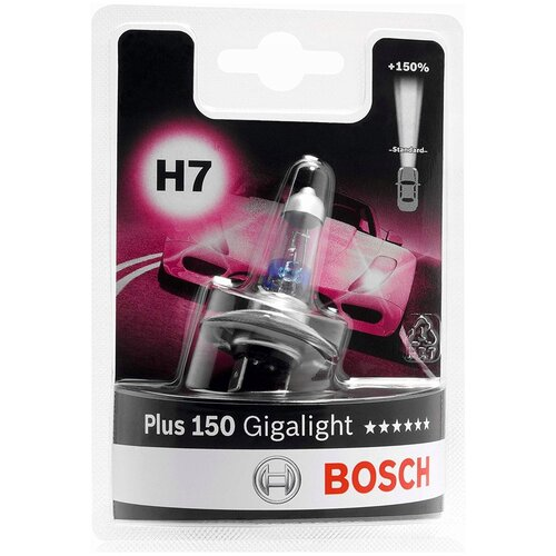 Лампа автомобильная BOSCH H7 Gigalight +150%, 1987301137