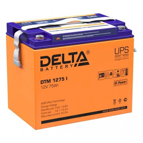 Аккумуляторная батарея DELTA Battery DTM 1275 I 75 А·ч аккумуляторная батарея delta battery dtm 1275 l 75 а·ч