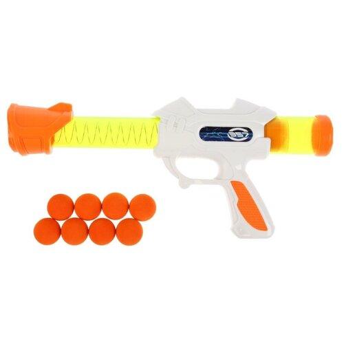 Фото - Бластер с шариками, Играем вместе Белый 1904G086-R игрушечное оружие играем вместе бластер стреляющий шариками по кеглям