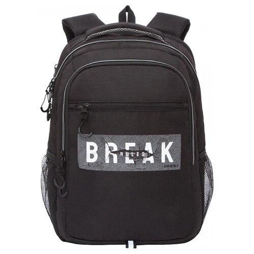 Купить Grizzly Рюкзак (RU-132-2), черный/серый, Рюкзаки, ранцы