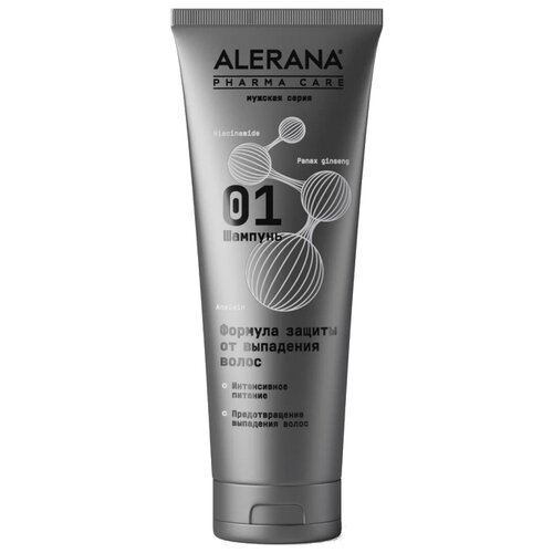 Alerana шампунь для волос Pharma Care Формула защиты от выпадения для мужчин, 260 мл