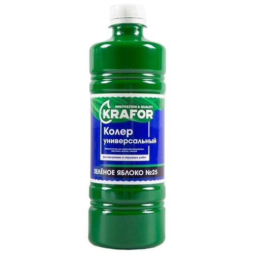 Колеровочная краска Krafor универсальный №25 зеленое яблоко 0.45 л