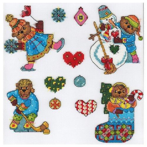 Купить PANNA Набор для вышивания Елочные игрушки. Мишки 18.5 x 23.5 см (IG-1613), Наборы для вышивания