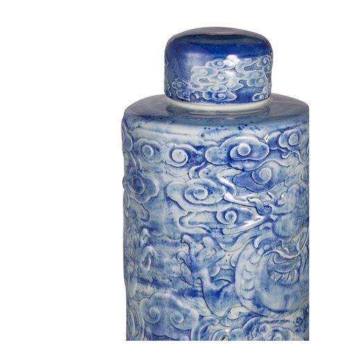 ваза с крышкой glasar 19x19x45 см Ваза с крышкой 19x19x45 см