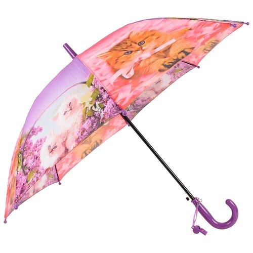 Зонт-трость полуавтомат детский Rain Lucky 920-6 LACN со свистком