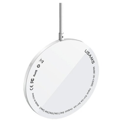Беспроводное зарядное устройство USAMS US-CD155 Super-thin Magnetic Fast Wireless Charger for IP 12 Series