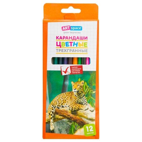 Купить ArtSpace Карандаши цветные Животный мир, 12 цветов (245924), Цветные карандаши