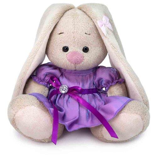 Мягкая игрушка BUDI BASA SidX-395 Зайка Ми в сиреневом платье с блеском 15 см