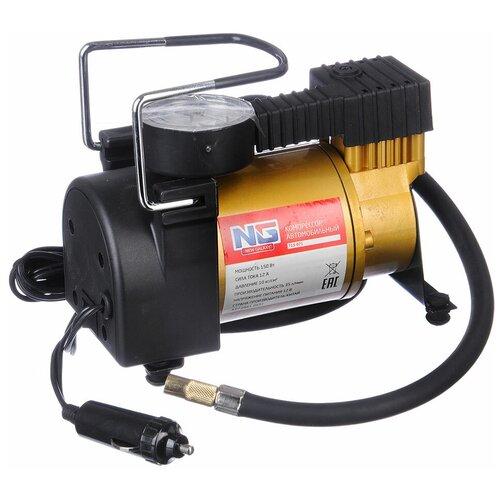 Автомобильный компрессор NEW GALAXY 713-071 черный/золотистый