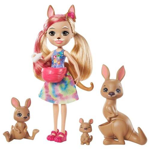 Купить Игровой набор Enchantimals Камилла Кенгуру с семьей, GTM31, Куклы и пупсы