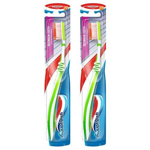 Купить Зубная щетка Aquafresh Between Teeth, зеленый/зеленый, 2 уп.