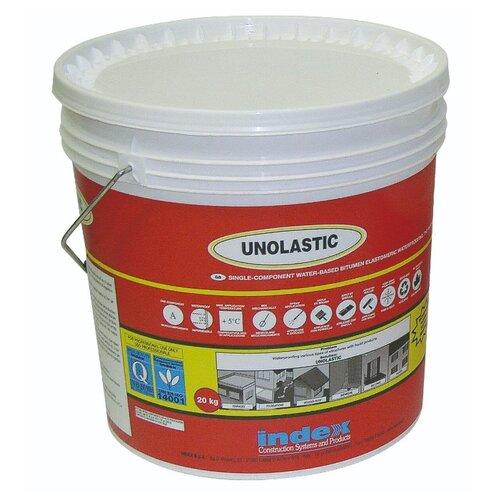 Суперэластичная гидроизоляция для бетона, дерева, метала, полистирола…. Unolastic (Уноластик) 20кг. INDEX