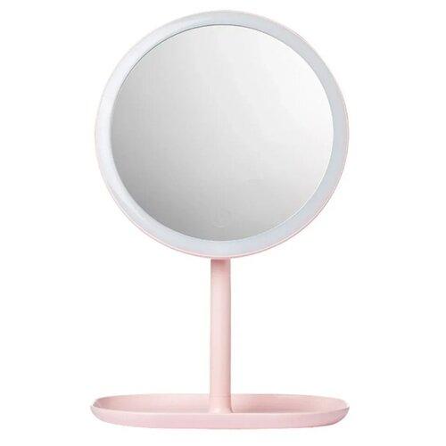 Купить Зеркало косметическое настольное Xiaomi Jordan Judy LED Makeup Mirror (NV529) с подсветкой pink