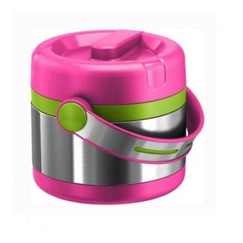 Термос для еды EMSA Mobility Kids, 0.65 л серый/розовый/зеленый