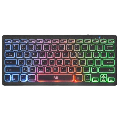 Беспроводная клавиатура Rii K09BT c подсветкой, черная