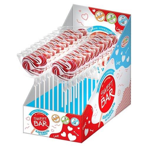 Фото - Карамель Sweet Bar на палочке Сердце крученое, 20 шт. карамель на палочке мороженое 10г конфитрейд