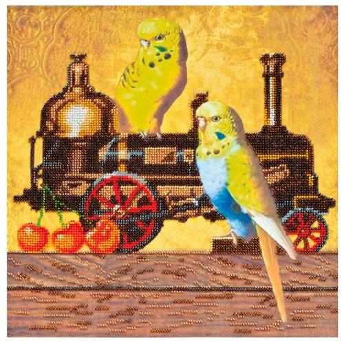 Купить ABRIS ART Набор для вышивания бисером Покатаемся 30 х 30 см (AB-351), Наборы для вышивания