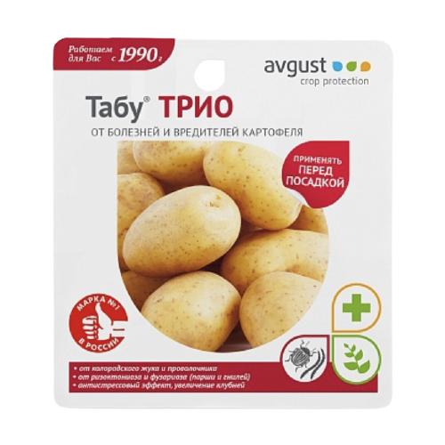 Avgust Средство от болезней и вредителей картофеля Табу ТРИО, 3 шт. х 19 мл
