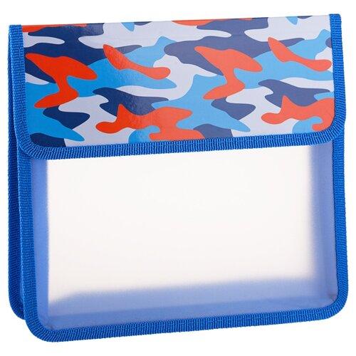 Купить ArtSpace Папка для тетрадей Military А5, 2 отделения, на липучке, пластик синий, Файлы и папки