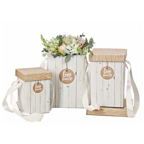Фото - Набор подарочных коробок Дарите счастье Доски 3 шт белый/бежевый набор подарочных коробок дарите счастье универсальный 10 шт бежевый белый черный