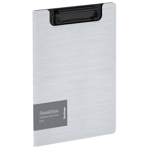 Купить Berlingo Папка-планшет с зажимом Steel&Style A5+, пластик белый, Файлы и папки