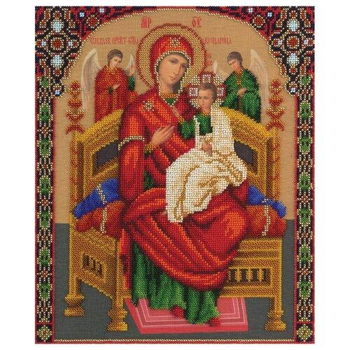 Купить PANNA Набор для вышивания бисером Икона Божией Матери Всецарица 25, 5 x 30, 5 см (CM-1557), Наборы для вышивания