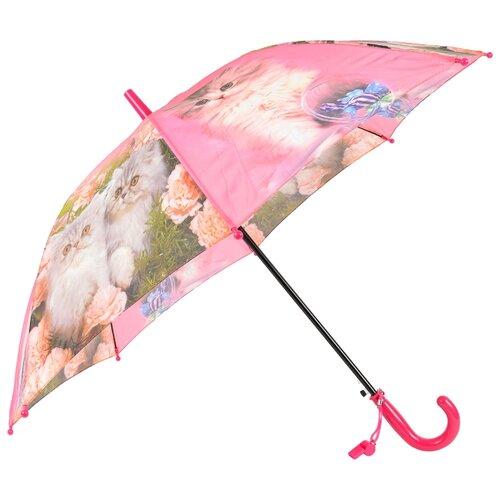 Зонт-трость полуавтомат детский Rain Lucky 920-5 LACN со свистком