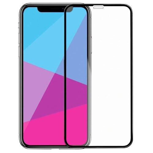 Полноэкранное защитное стекло для телефона Apple iPhone X, iPhone XS и iPhone 11 Pro / Стекло на Эпл Айфон Х, Айфон ХС и Айфон 11 Про / Стекло на весь экран / Full Glue от 3D до 21D (черный)
