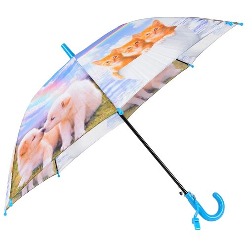Зонт-трость полуавтомат детский Rain Lucky 920-4 LACN со свистком