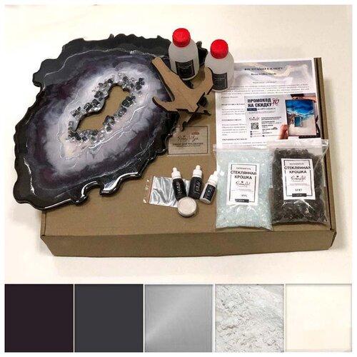 Купить Набор для создания картины эпоксидной смолой ResinArtBox Geode 006, Наборы для декупажа