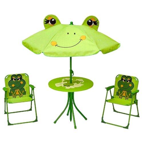 Комплект мебели Диорит XXI CCS1007 (зонт, стол, 2 стула), зелeный