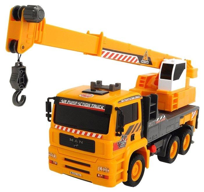 Машинка Dickie 3806003 (автокран MAN с воздушным насосом), Yellow