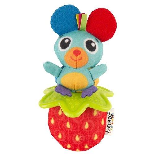 Прорезыватель-погремушка Lamaze Мышка и клубника красный/голубой недорого