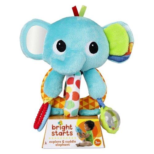 Прорезыватель-погремушка Bright Starts Ласковый слоник голубой, Погремушки и прорезыватели  - купить со скидкой